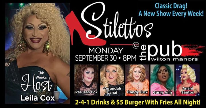 Stilettos en Wilton Manors le lun 30 de septiembre de 2019 20:00-22:00 (After-Work Gay)