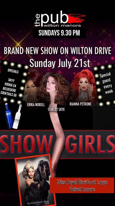 Showgirls at thePUB in Wilton Manors le Sun, July 21, 2019 from 09:30 pm to 11:30 pm (After-Work Gay)