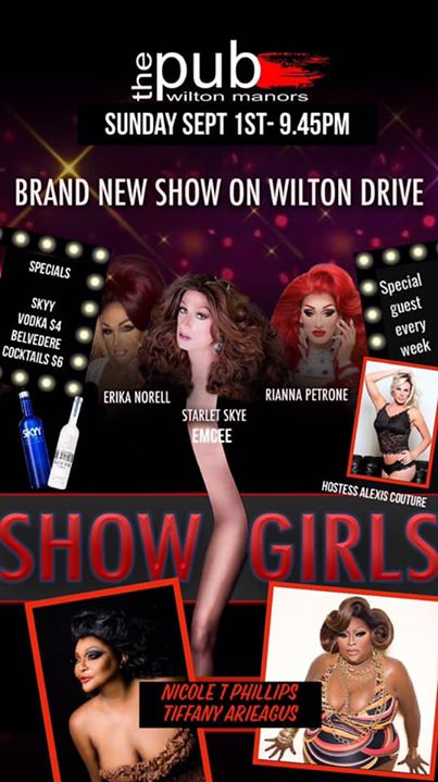 Showgirls at thePUB in Wilton Manors le Sun, September  1, 2019 from 09:30 pm to 11:30 pm (After-Work Gay)