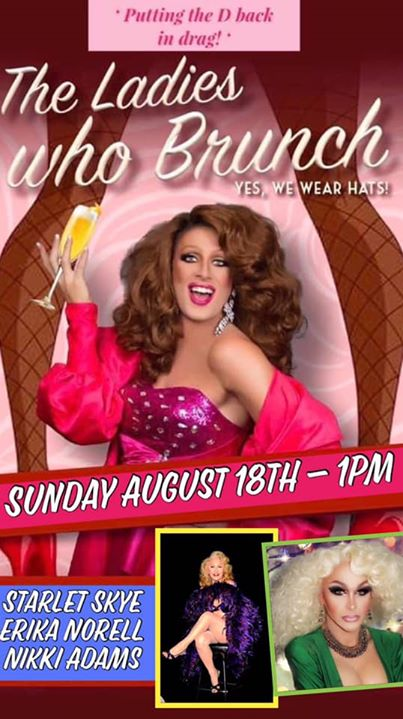 The Ladies Who Brunch in Wilton Manors le Sun, August 18, 2019 from 01:00 pm to 03:00 pm (Brunch Gay, Lesbian)
