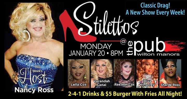 Stilettos - New Show - Classic Drag en Wilton Manors le lun 20 de enero de 2020 20:00-22:00 (After-Work Gay)