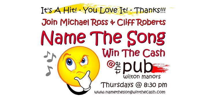 Name The Song / Win The Cash en Wilton Manors le jue  8 de agosto de 2019 20:30-22:00 (After-Work Gay)