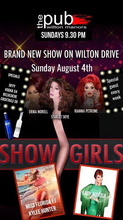 Showgirls at thePUB in Wilton Manors le Sun, August  4, 2019 from 09:30 pm to 11:30 pm (After-Work Gay)