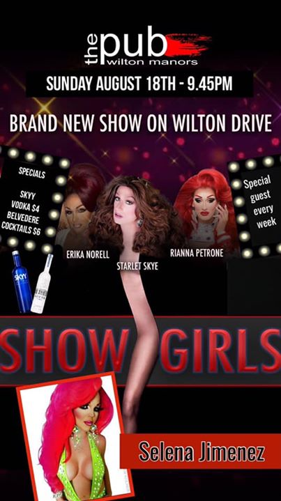 Showgirls at thePUB in Wilton Manors le Sun, August 18, 2019 from 09:30 pm to 11:30 pm (After-Work Gay)
