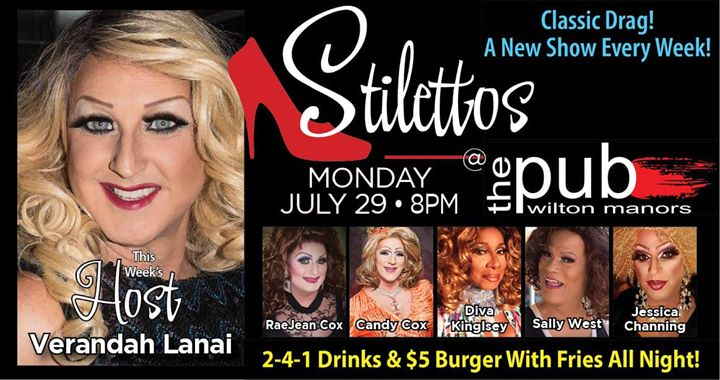 Stilettos en Wilton Manors le lun 29 de julio de 2019 20:00-22:00 (After-Work Gay)