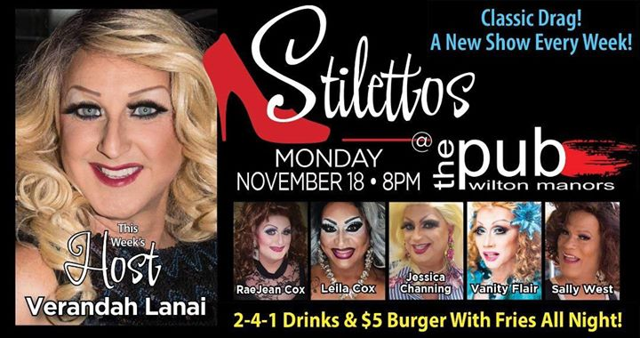 Stilettos - New Show - Classic Drag en Wilton Manors le lun 18 de noviembre de 2019 20:00-22:00 (After-Work Gay)