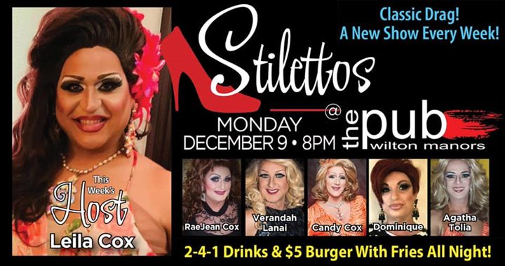 Stilettos - New Show - Classic Drag en Wilton Manors le lun  9 de diciembre de 2019 20:00-22:00 (After-Work Gay)