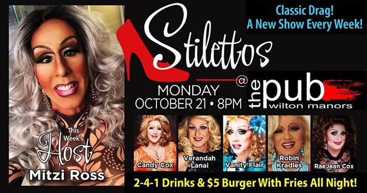 Stilettos en Wilton Manors le lun 21 de octubre de 2019 20:00-22:00 (After-Work Gay)