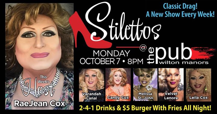 Stilettos em Wilton Manors le seg,  7 outubro 2019 20:00-22:00 (After-Work Gay)