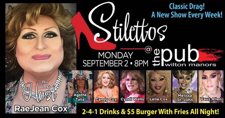 Stilettos em Wilton Manors le seg,  2 setembro 2019 20:00-22:00 (After-Work Gay)