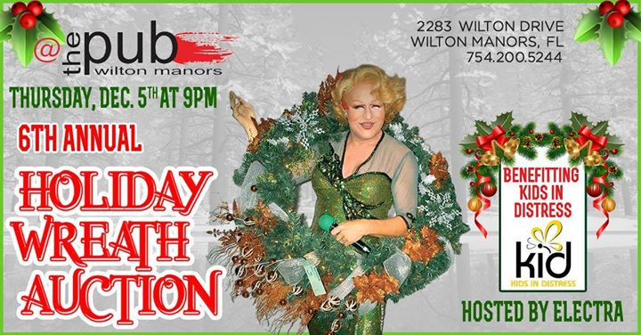 Holiday Wreath Auction a Wilton Manors le gio  5 dicembre 2019 21:00-22:00 (After-work Gay)