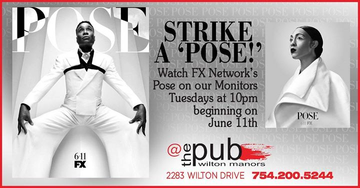 POSE Watch Party - Tuesdays 10pm @thePUB in Wilton Manors le Tue, July 23, 2019 from 10:00 pm to 11:00 am (After-Work Gay)
