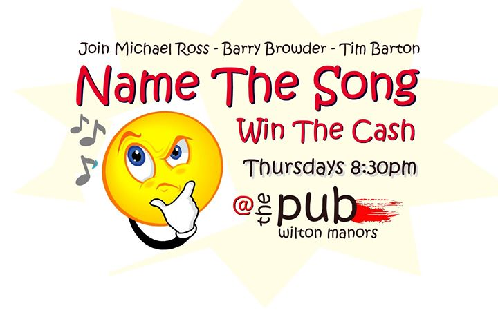 Name The Song / Win The Cash en Wilton Manors le jue  9 de enero de 2020 20:30-22:00 (After-Work Gay)