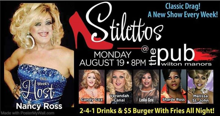 Stilettos en Wilton Manors le lun 19 de agosto de 2019 20:00-22:00 (After-Work Gay)