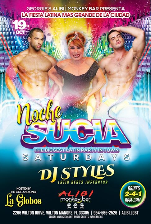 Noche Sucia Saturdays with La Globos a Wilton Manors le sab 19 ottobre 2019 21:00-03:00 (Clubbing Gay)