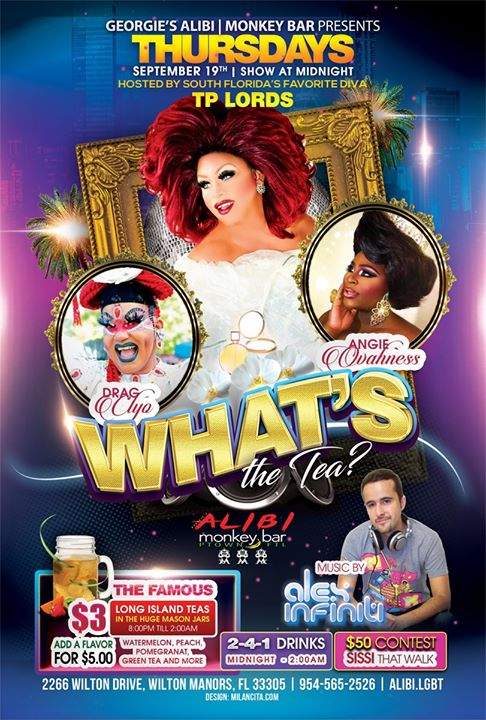 What's the Tea?! Thursdays in Wilton Manors le Thu, September 26, 2019 from 11:00 pm to 02:00 am (Clubbing Gay)