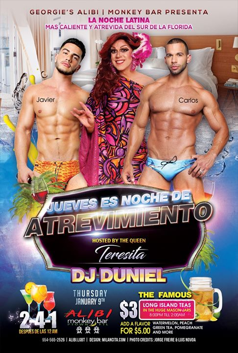 Noche de Atrevimiento in Wilton Manors le Thu, January 16, 2020 from 09:00 pm to 02:00 am (Clubbing Gay)