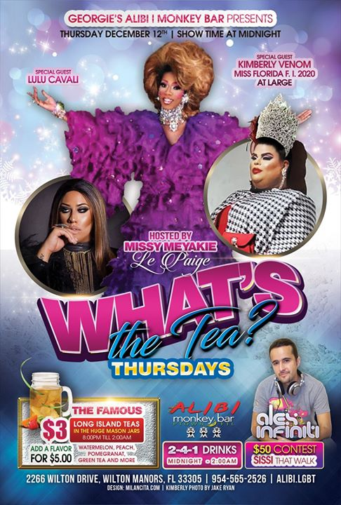 What's the Tea?! Thursdays em Wilton Manors le qui, 19 dezembro 2019 23:00-02:00 (Clubbing Gay)