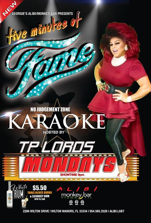 Fame Karaoke Mondays at The Alibi! en Wilton Manors le lun 18 de noviembre de 2019 21:00-23:00 (After-Work Gay)