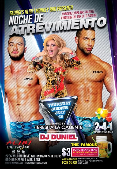 Noche de Atrevimiento in Wilton Manors le Do 25. Juli, 2019 21.00 bis 02.00 (Clubbing Gay)