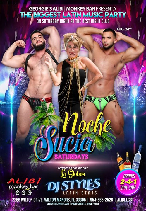 Noche Sucia Saturdays with La Globos à Wilton Manors le sam. 24 août 2019 de 21h00 à 03h00 (Clubbing Gay)