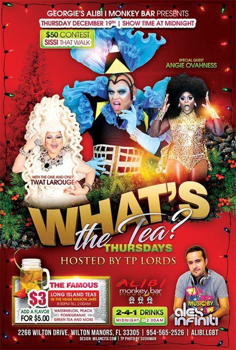 What's the Tea?! Thursdays à Wilton Manors le jeu.  2 janvier 2020 de 23h00 à 02h00 (Clubbing Gay)