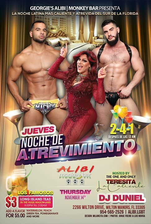Noche de Atrevimiento in Wilton Manors le Thu, November 21, 2019 from 09:00 pm to 02:00 am (Clubbing Gay)