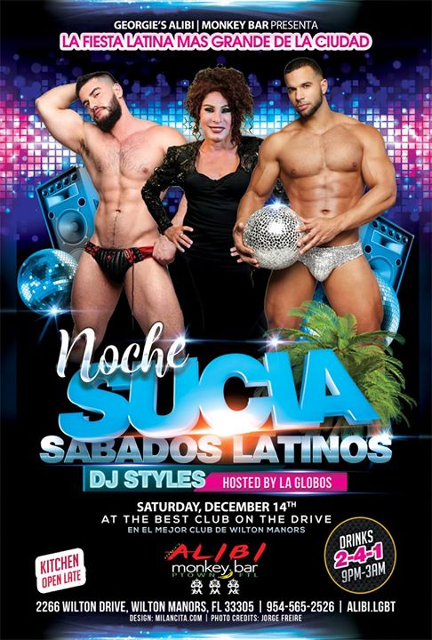 Noche Sucia Saturdays with La Globos a Wilton Manors le sab 14 dicembre 2019 21:00-03:00 (Clubbing Gay)