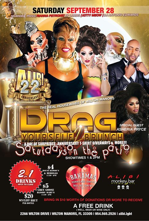 Drag Yourself to Brunch Saturdays in Wilton Manors le Sat, October  5, 2019 from 01:00 pm to 04:00 pm (Brunch Gay)