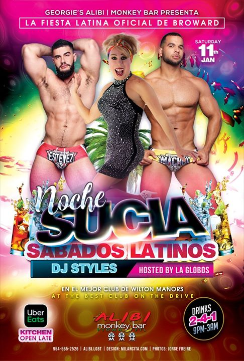 Noche Sucia Saturdays with La Globos in Wilton Manors le Sat, January 11, 2020 from 09:00 pm to 03:00 am (Clubbing Gay)