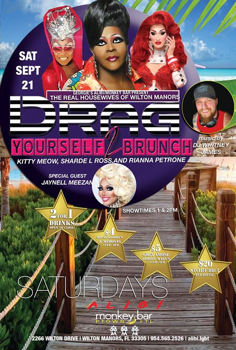 Drag Yourself to Brunch Saturdays in Wilton Manors le Sat, September 21, 2019 from 01:00 pm to 04:00 pm (Brunch Gay)
