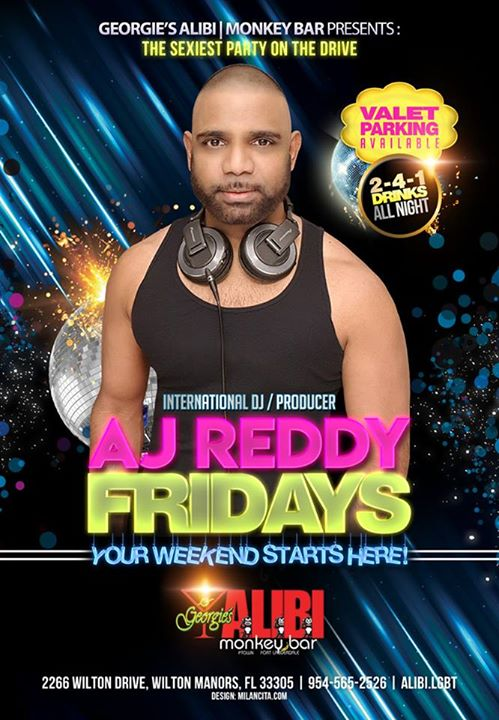 DJ AJ Reddy at Georgie's in Wilton Manors le Fr 16. August, 2019 21.00 bis 03.00 (Clubbing Gay)