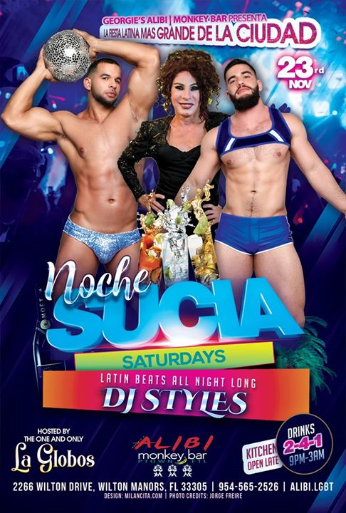 Noche Sucia Saturdays with La Globos à Wilton Manors le sam.  7 décembre 2019 de 21h00 à 03h00 (Clubbing Gay)