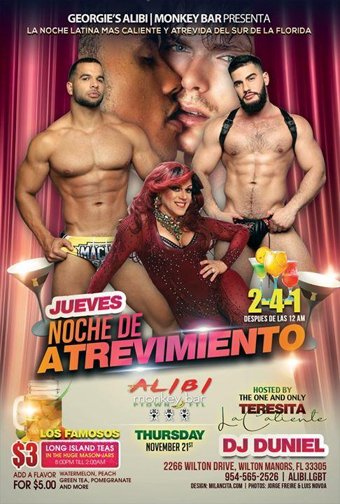 Noche de Atrevimiento in Wilton Manors le Do  5. Dezember, 2019 21.00 bis 02.00 (Clubbing Gay)