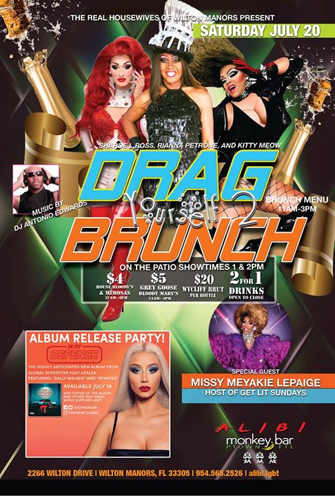 Drag Yourself to Brunch Saturdays in Wilton Manors le Sat, July 20, 2019 from 01:00 pm to 04:00 pm (Brunch Gay)