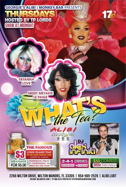 What's the Tea?! Thursdays à Wilton Manors le jeu. 24 octobre 2019 de 23h00 à 02h00 (Clubbing Gay)