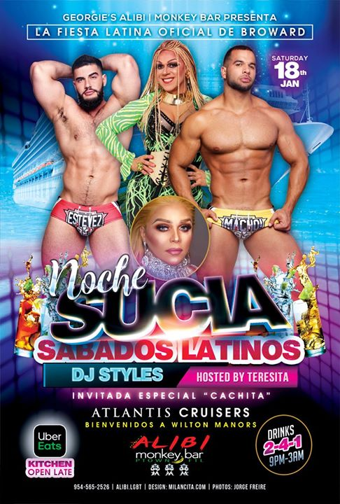 Noche Sucia Saturdays with La Globos in Wilton Manors le Sat, February  1, 2020 from 09:00 pm to 03:00 am (Clubbing Gay)