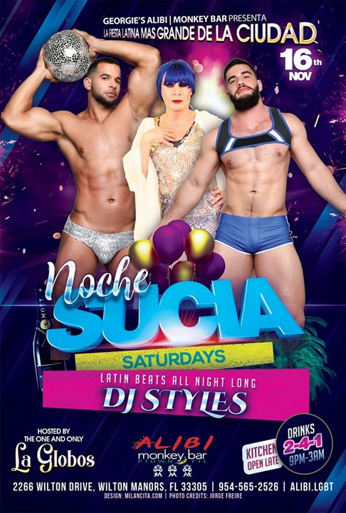 Noche Sucia Saturdays with La Globos em Wilton Manors le sáb, 16 novembro 2019 21:00-03:00 (Clubbing Gay)