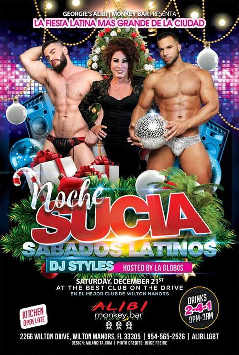 Noche Sucia Saturdays with La Globos a Wilton Manors le sab 28 dicembre 2019 21:00-03:00 (Clubbing Gay)