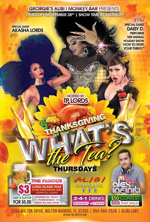 What's the Tea?! Thursdays à Wilton Manors le jeu.  5 décembre 2019 de 23h00 à 02h00 (Clubbing Gay)