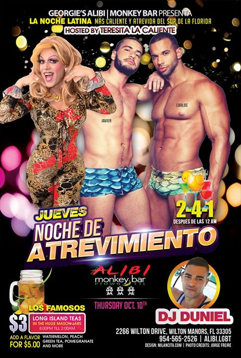 Noche de Atrevimiento in Wilton Manors le Thu, October 17, 2019 from 09:00 pm to 02:00 am (Clubbing Gay)