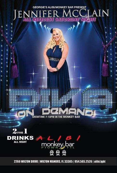 Diva on Demand with Jennifer McClain in Wilton Manors le Sat, November  9, 2019 from 07:00 pm to 10:00 pm (After-Work Gay)