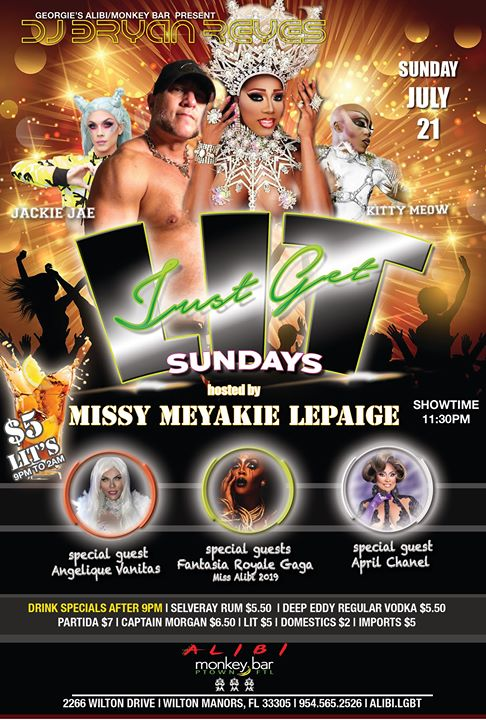 Get LIT Sundays at The Alibi! in Wilton Manors le So 21. Juli, 2019 23.30 bis 02.00 (Clubbing Gay)