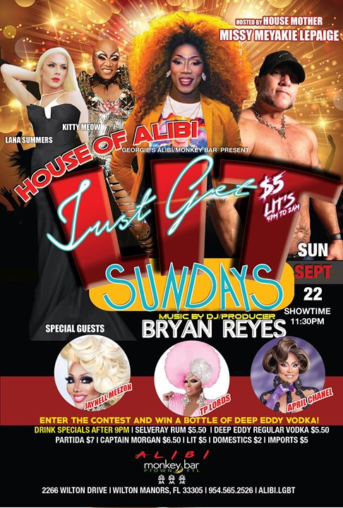 Get LIT Sundays at The Alibi! in Wilton Manors le Sun, October  6, 2019 from 11:30 pm to 02:00 am (Clubbing Gay)