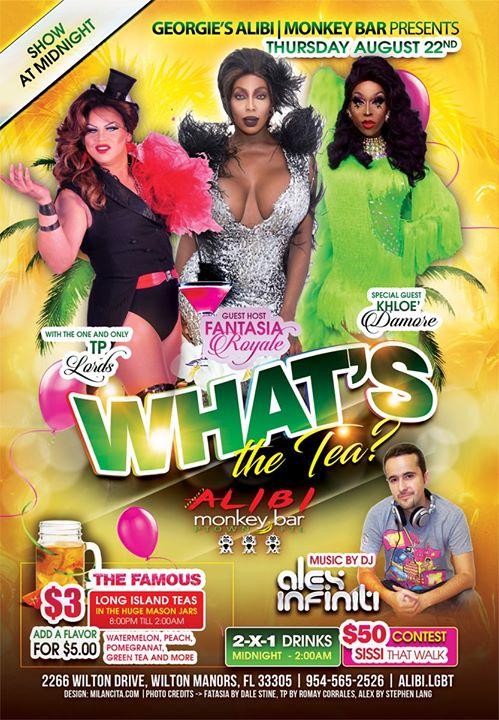 What's the Tea?! Thursdays à Wilton Manors le jeu.  5 septembre 2019 de 23h00 à 02h00 (Clubbing Gay)