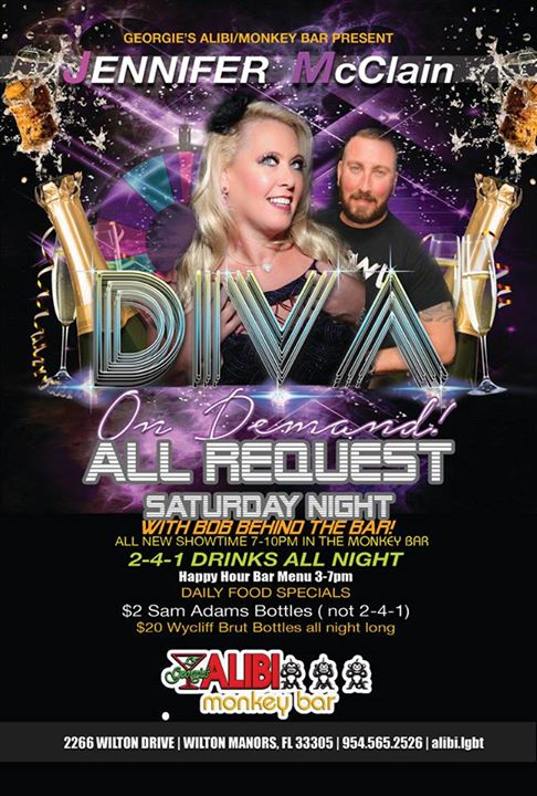 Diva on Demand with Jennifer McClain in Wilton Manors le Sat, October  5, 2019 from 07:00 pm to 10:00 pm (After-Work Gay)