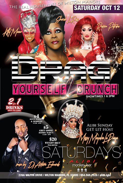 Drag Yourself to Brunch Saturdays in Wilton Manors le Sat, October 12, 2019 from 01:00 pm to 04:00 pm (Brunch Gay)