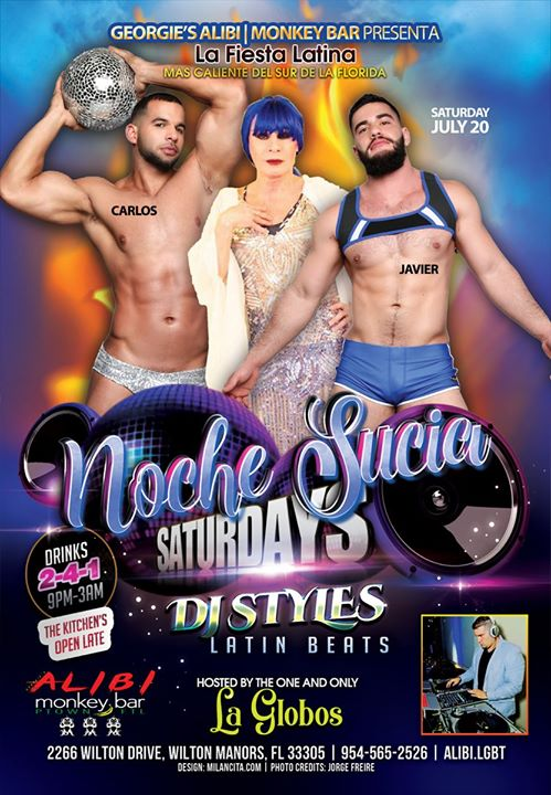 Noche Sucia Saturdays with La Globos à Wilton Manors le sam. 27 juillet 2019 de 21h00 à 03h00 (Clubbing Gay)