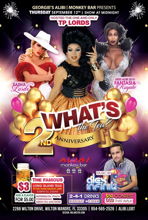 What's the Tea?! Thursdays in Wilton Manors le Thu, September 19, 2019 from 12:00 am to 02:00 am (Clubbing Gay)