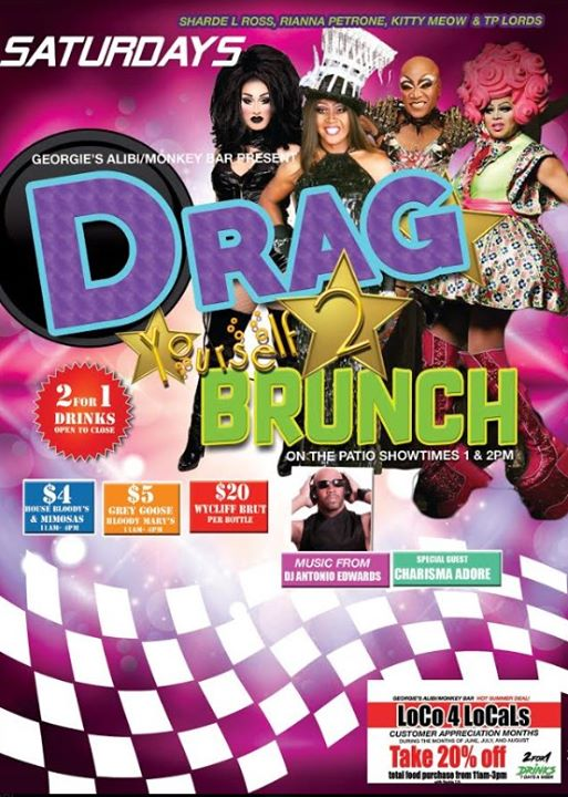 Drag Yourself to Brunch Saturdays in Wilton Manors le Sat, August 24, 2019 from 01:00 pm to 04:00 pm (Brunch Gay)